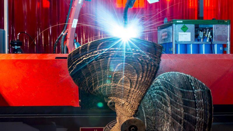 La primera hélice creada con fabricación aditiva en el RAMLAB de Rotterdam. Imagen de RAMLAB.