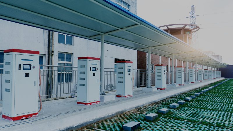 Puntos de carga para vehículos eléctricos en China. Imagen de WangAnQi