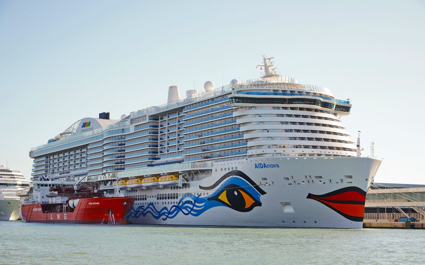 AIDAnova (Carnival Corporation) is the first cruise in the world powered with LNG.