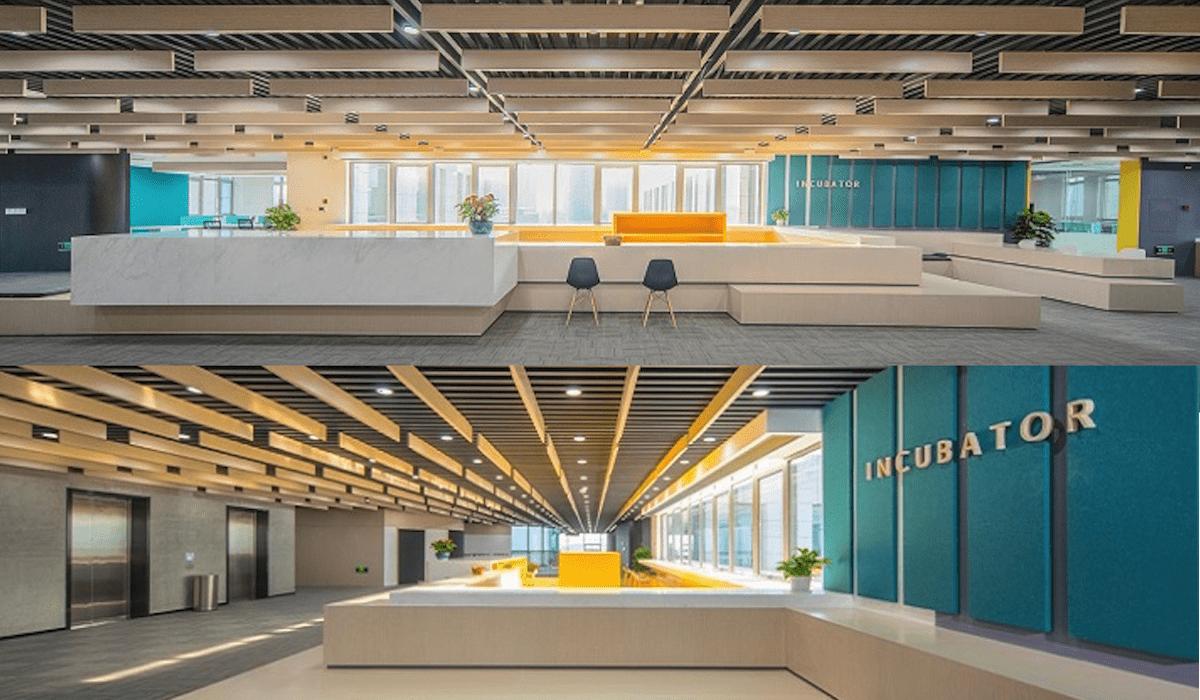 El Nottingham-Ningbo Incubator Center es un hub para empresarios y estudiantes que buscan transformar ideas en productos viables y compañías escalables. [Imagen de UNNC Incubator]