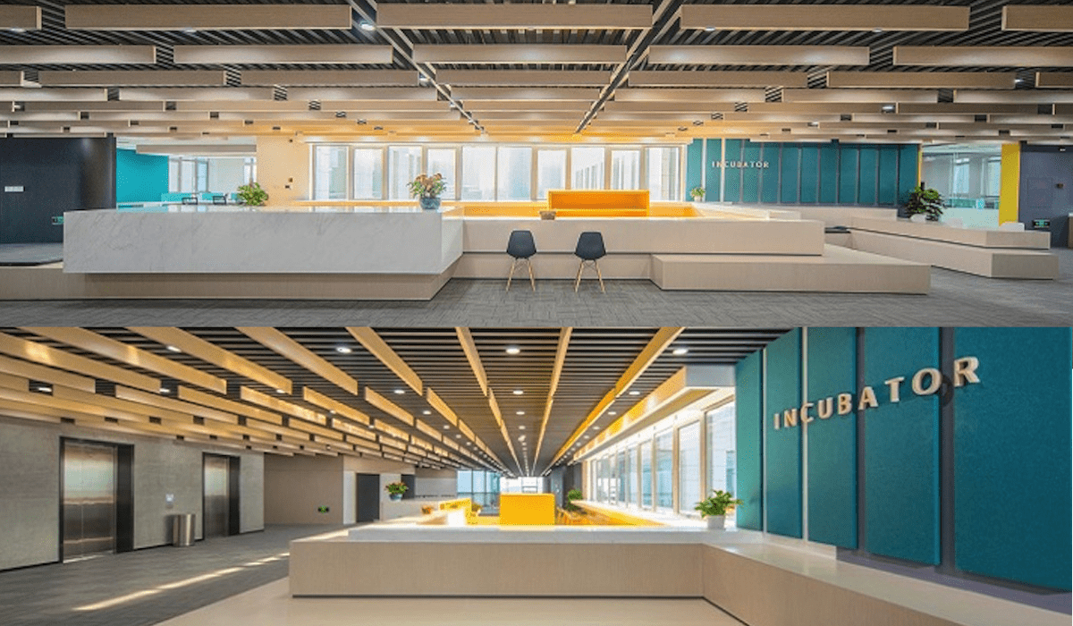 The Nottingham-Ningbo Incubator Centre is a ground-breaking multi-use venue for student and staff entrepreneurs seeking to transform ideas into viable products and scalable companies.  [Image by UNNC Incubator]
