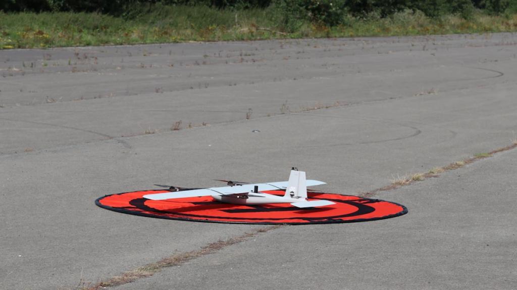 Landing of one of the drones of Port of Antwerp.
