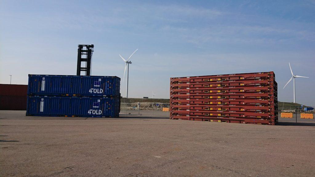 Ejemplos de contenedores plegables de 4FOLD. (Foto de 4FOLD)
