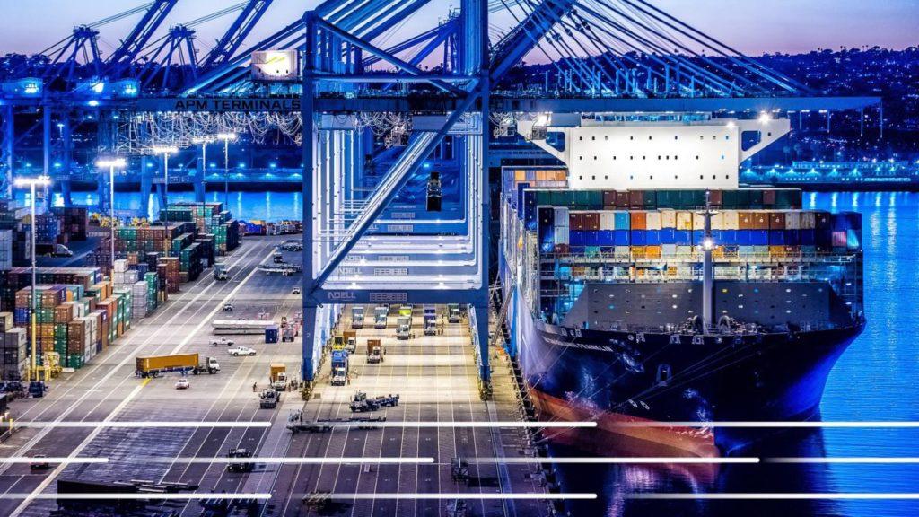 El puerto de Los Ángeles ha diseñado una solución en la nube llamada Port Optimizer que logra una comunicación productiva que hace posible la trazabilidad. (Imagen del puerto de Los Angeles)