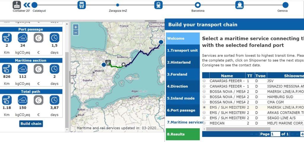Es una herramienta intermodal que permite al usuario diseñar rutas de transporte detalladas sobre un mapa interactivo. (Imagen de Port Links del Port de Barcelona)