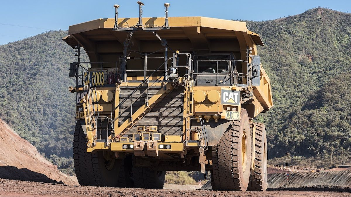 Autonomous truck of the Vale company dedicated to mining. (Vale)