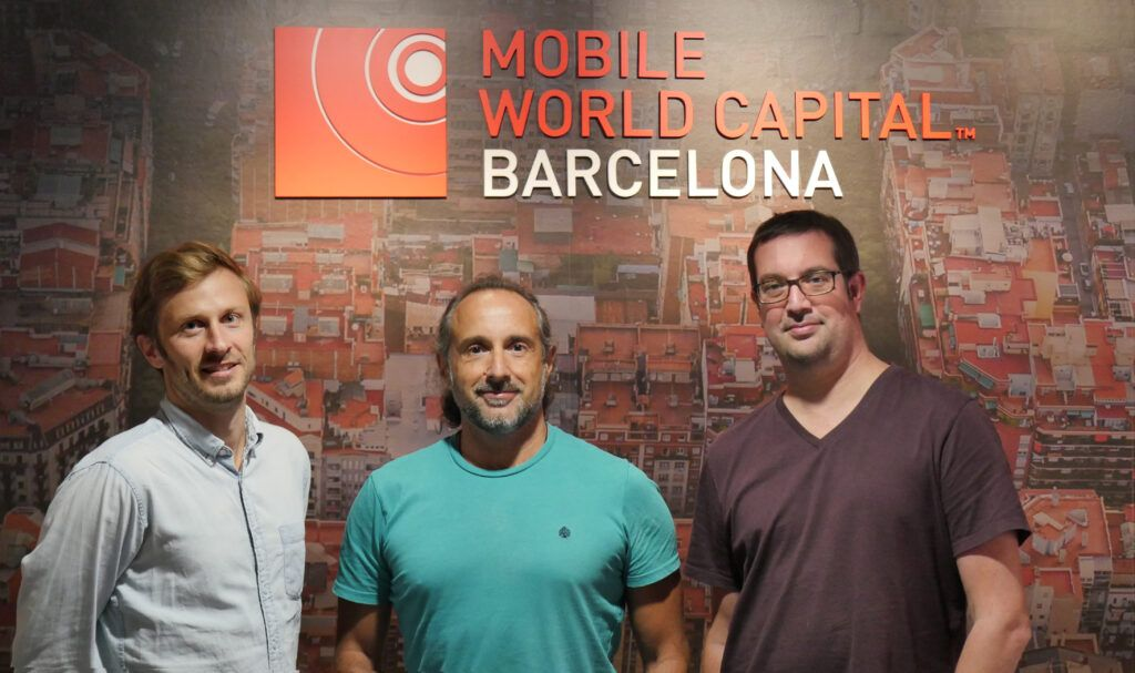 Adriaan Landman, Miguel Silva y Marçal Rossinyol, fundadores de AllRead. (AllRead)