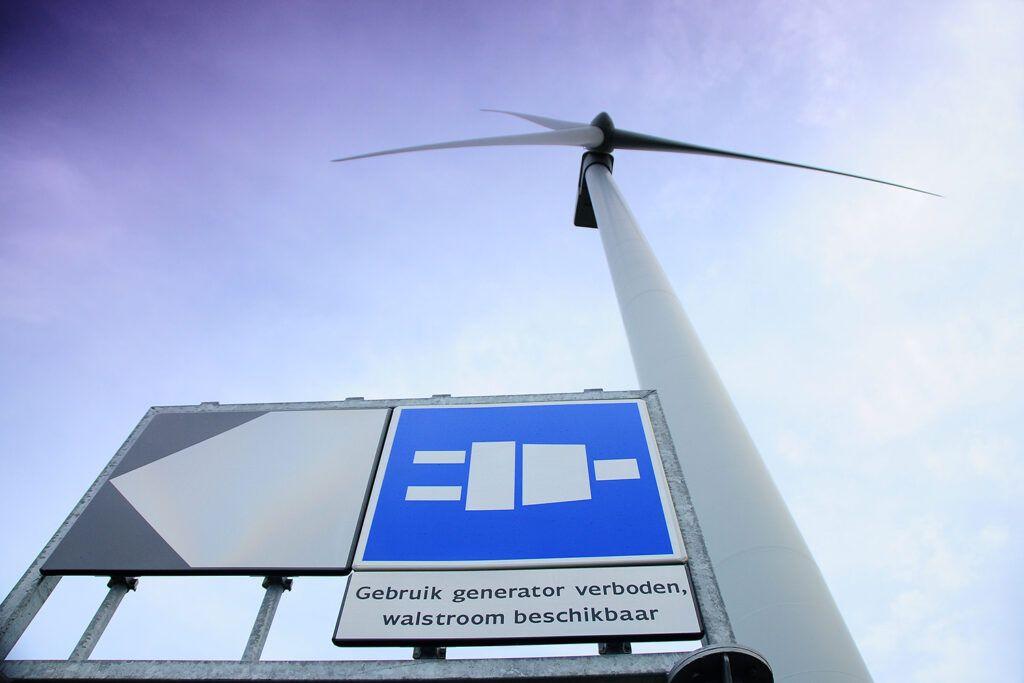 Wind turbine in the port of Rotterdam © Danny Cornelissen
